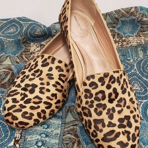 Land's End Leopard Flats Calf Hair and Leather 11B